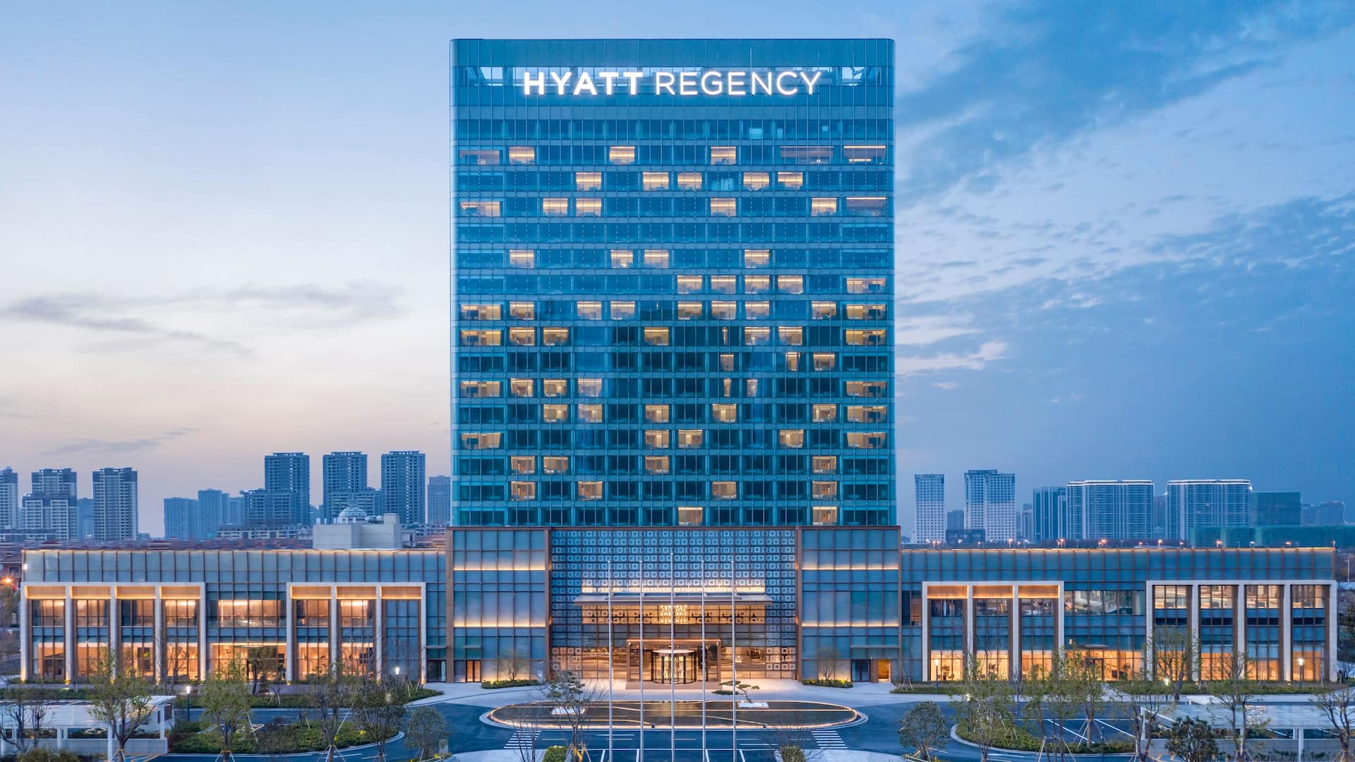 Hyatt Regency Ningbo Hangzhou Bay Hotel Main Entrance