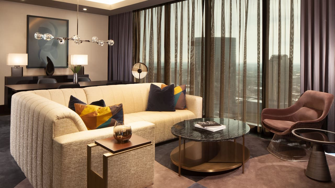 Luxury hotel room near The Gulch in Nashville