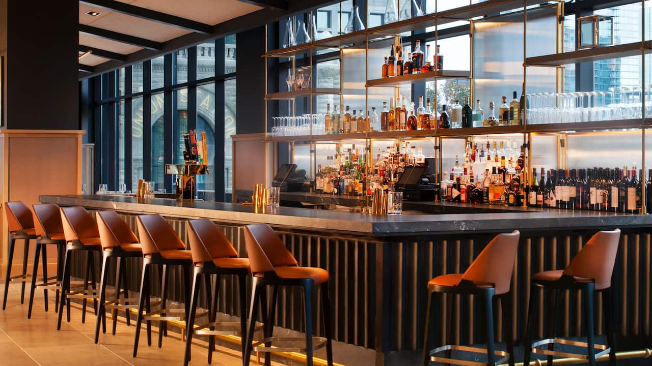 Full-service hotel bar near Broadway in Nashville
