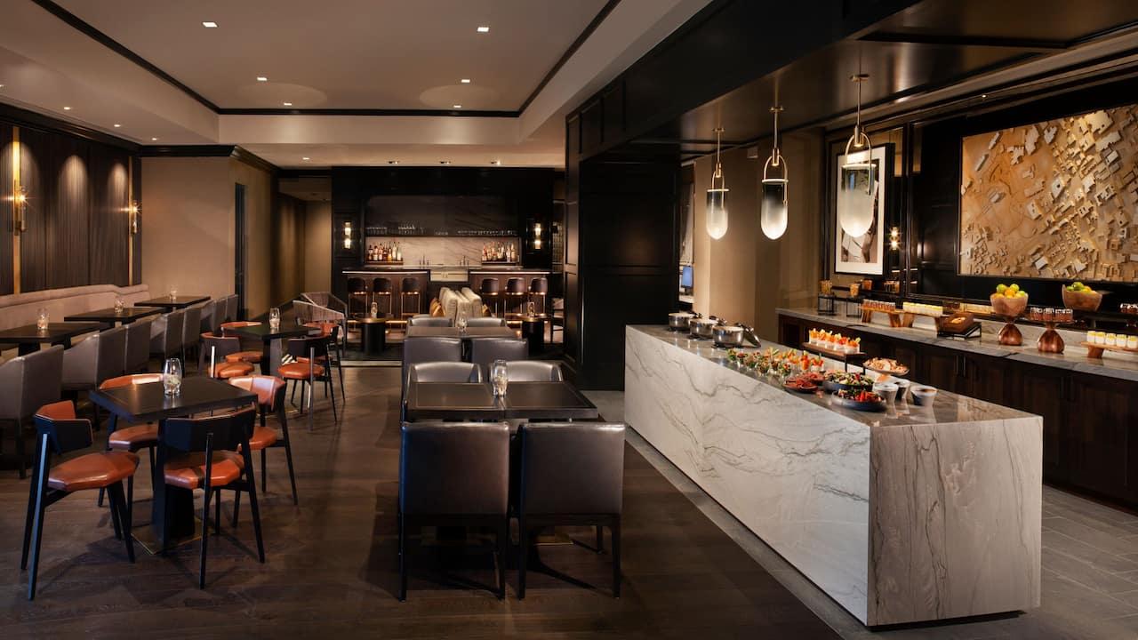 Hotel lounge in Nashville on Broadway