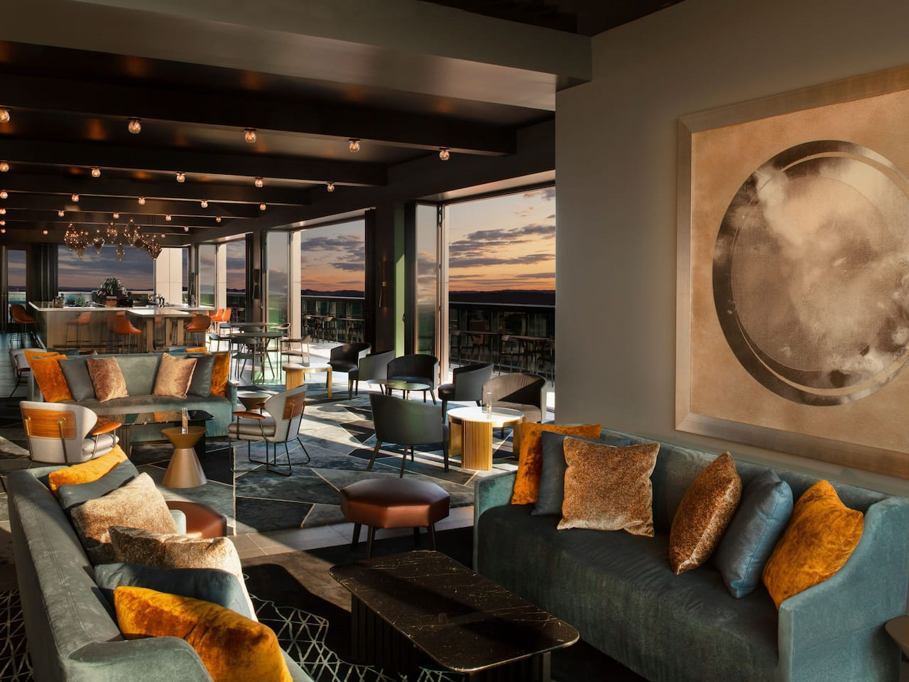 louna Rooftop Bar Interior