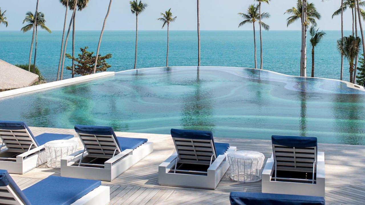 Main Pool Sun Bed at Hyatt Regency Koh Samui
