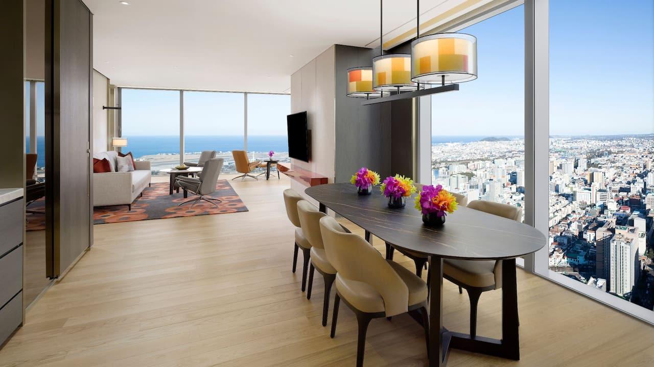 Corner Suite Living Room at Grand Hyatt Jeju
