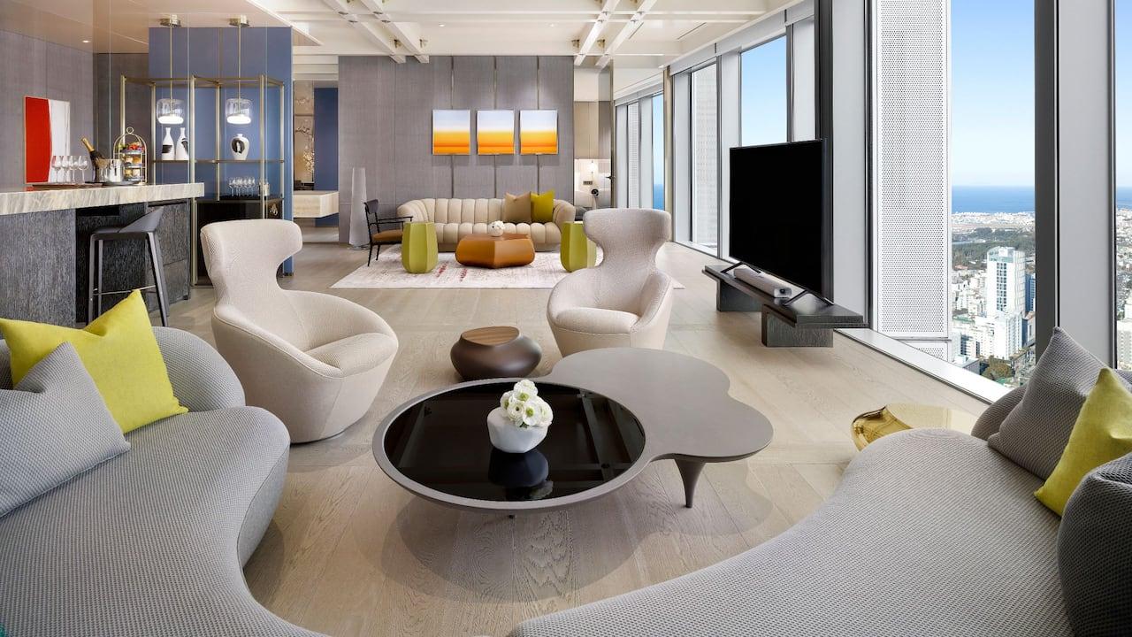 Diplomat Suite Room Living at Grand Hyatt Jeju