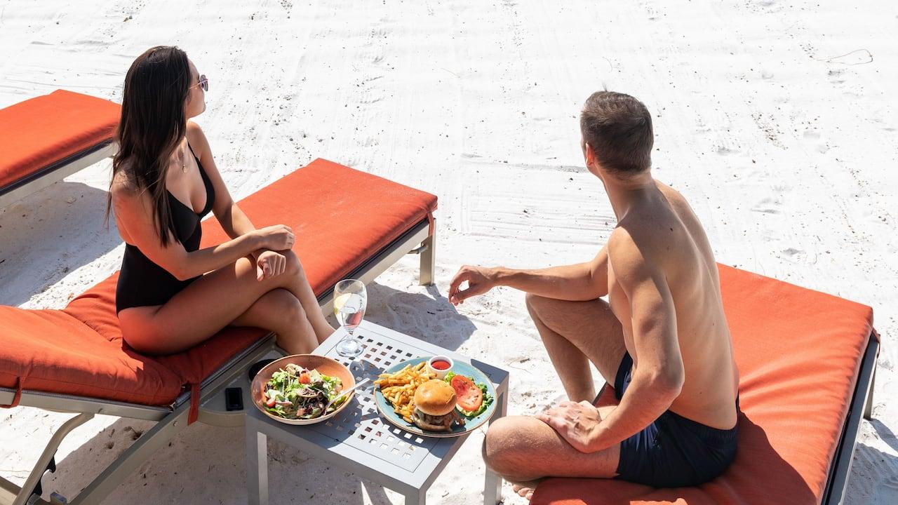 Stunning Beach Couple Lounge Chairs