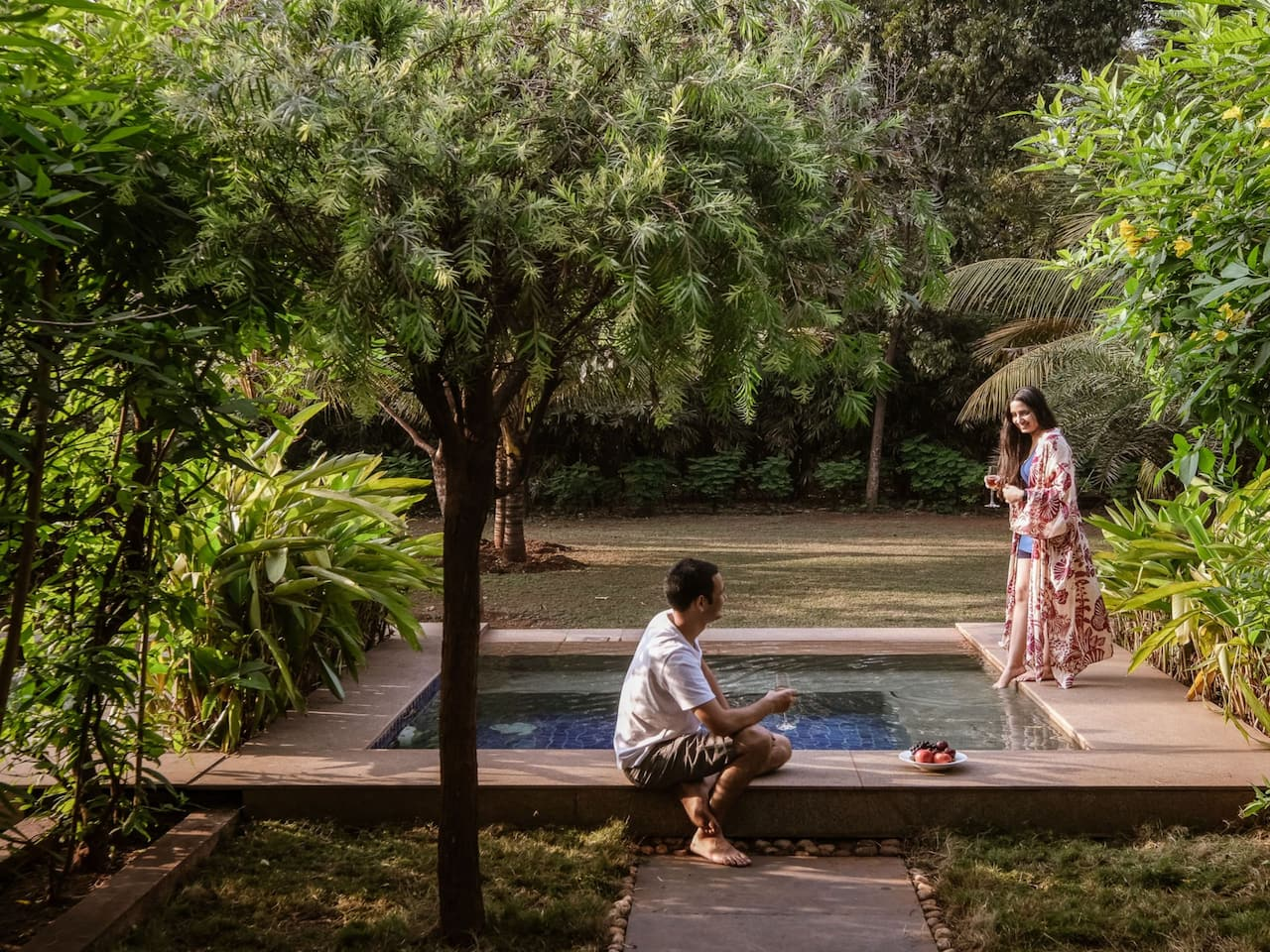 Plunge Pool Couple