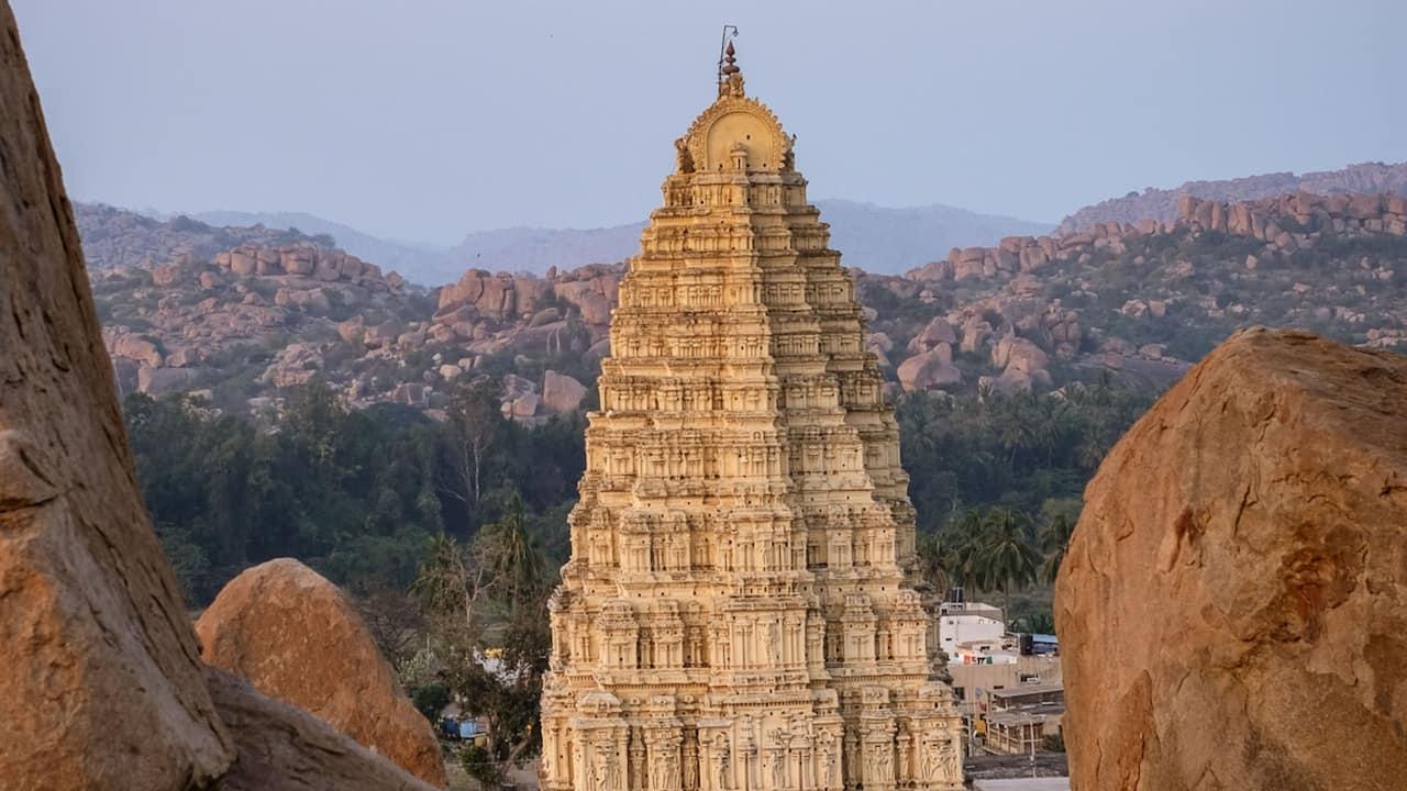 Virupaksha Temple Sunset