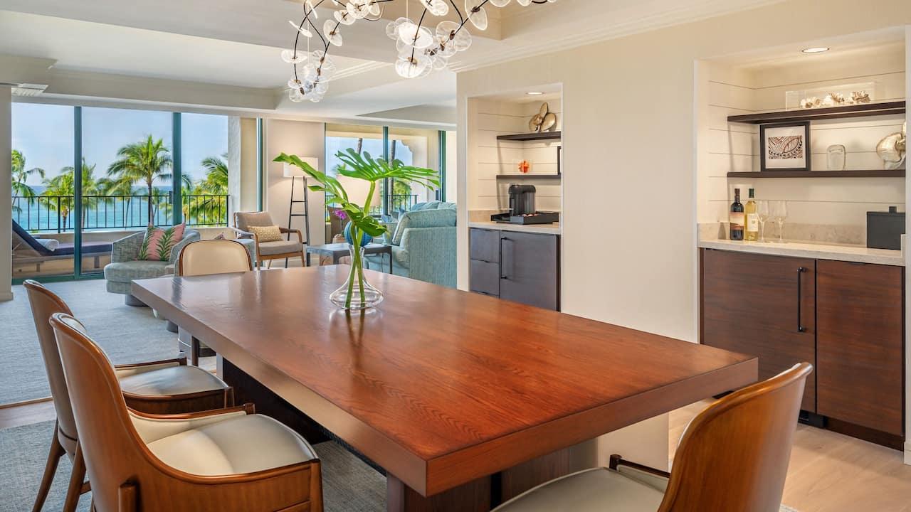 Kauai Royal Suite Dining View