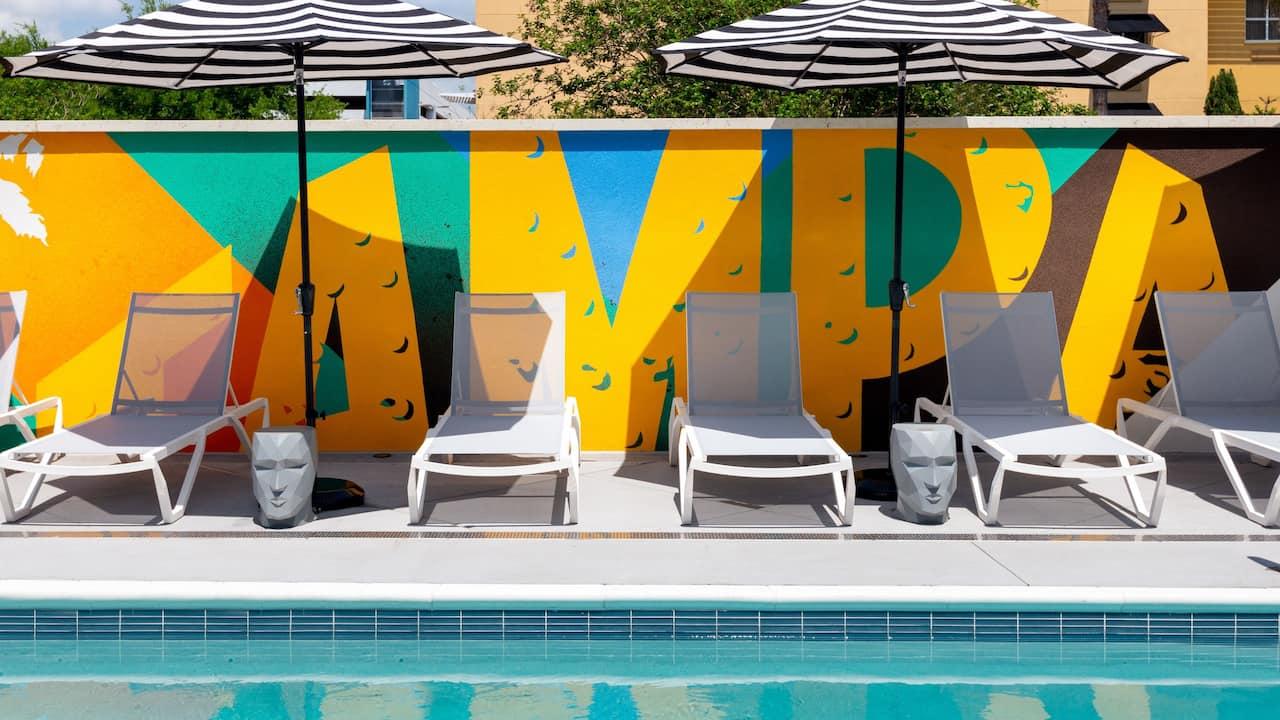 Pool Seating Mural