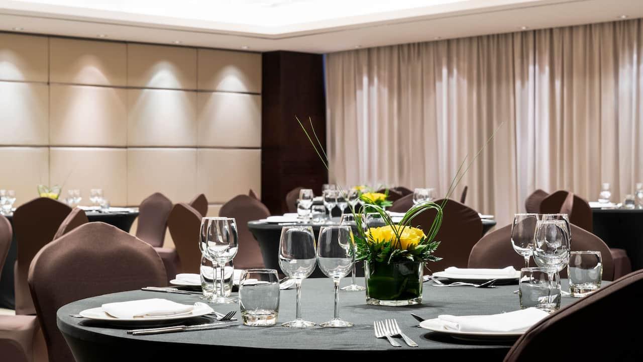 Hyatt Regency Oryx Doha Event Dining Table Setup