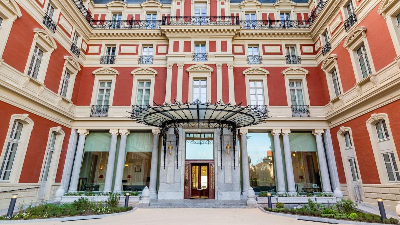 Entrance at Hôtel du Palais in Biarritz