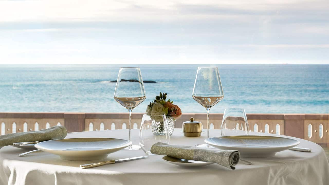 La Rotonde Table View of the Ocean Hotel du Palais Biarritz