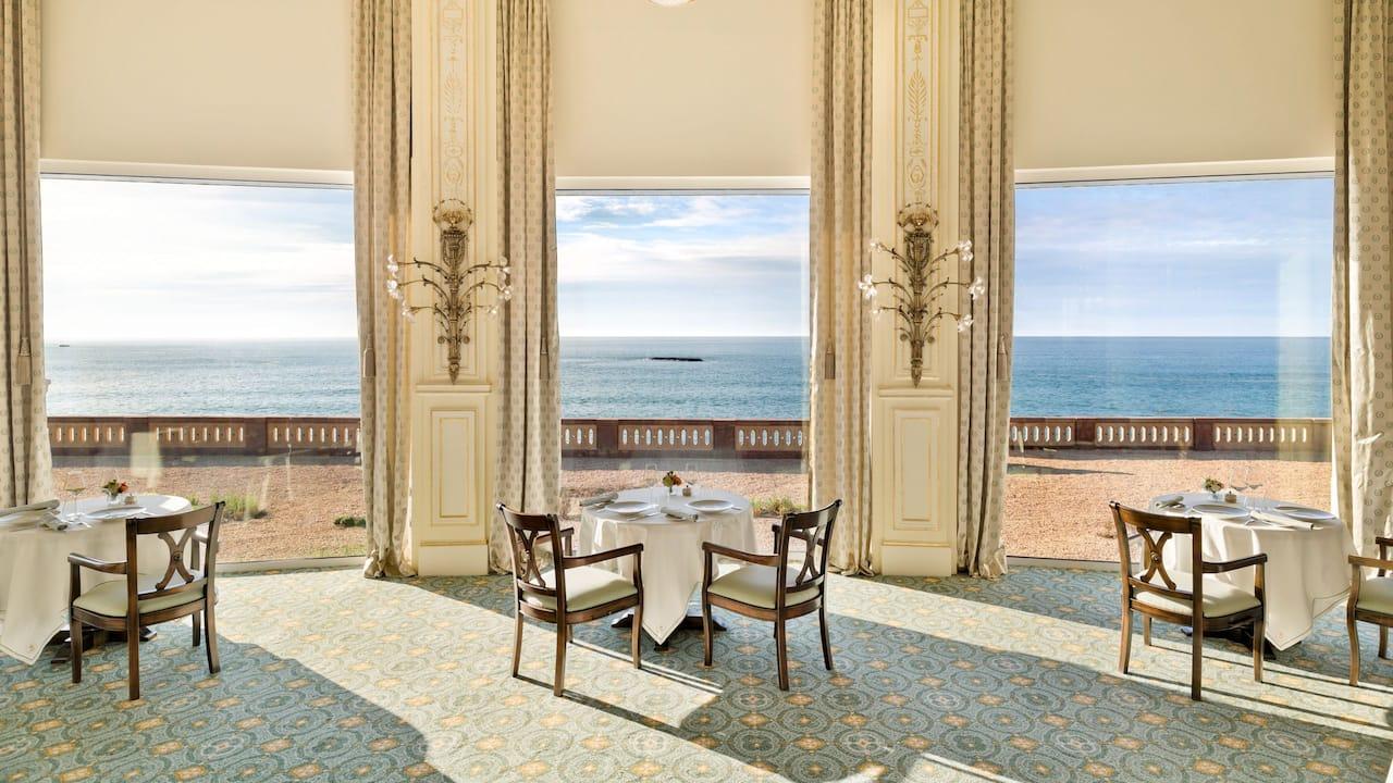 La Rotonde Tables Overlooking the Ocean Breathtaking views Hotel du Palais