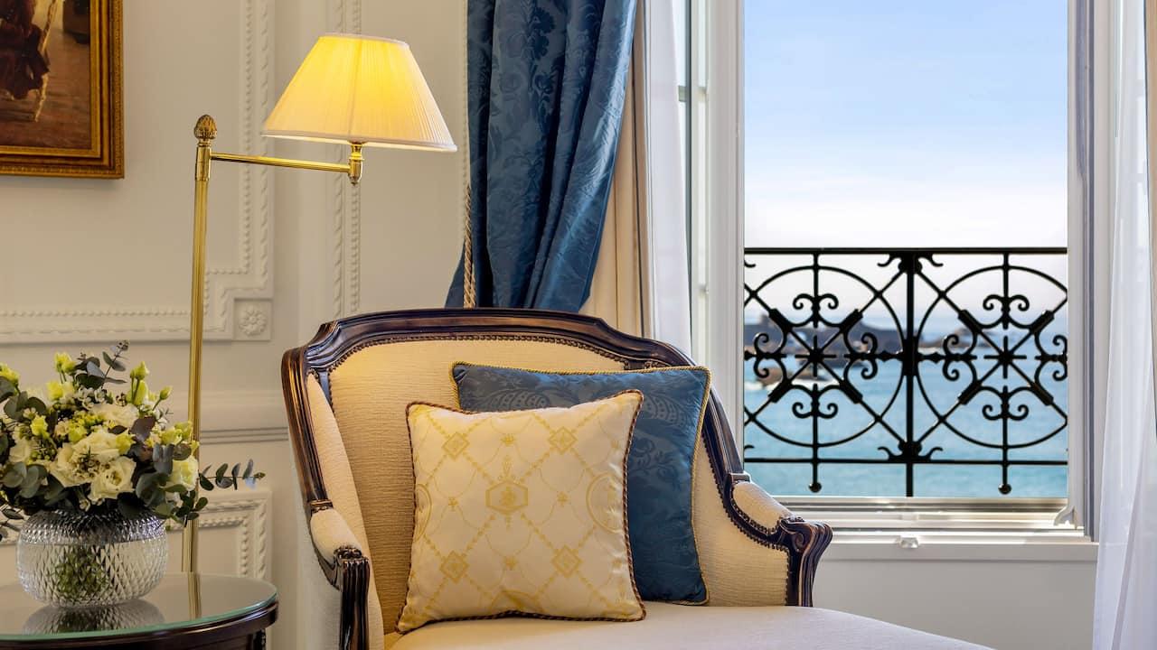Armchair in Suite at Hotel du Palais Biarritz