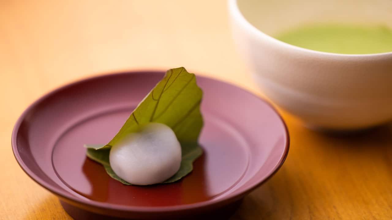 Touzan afternoon green tea sweets - Nampu Japanese Restaurant