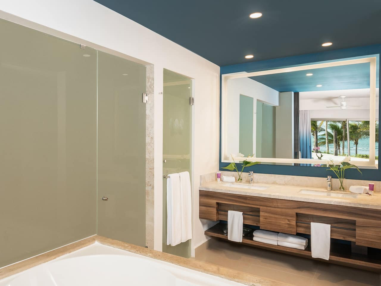 Oceanfront Junior Swim Up Suite Bathroom