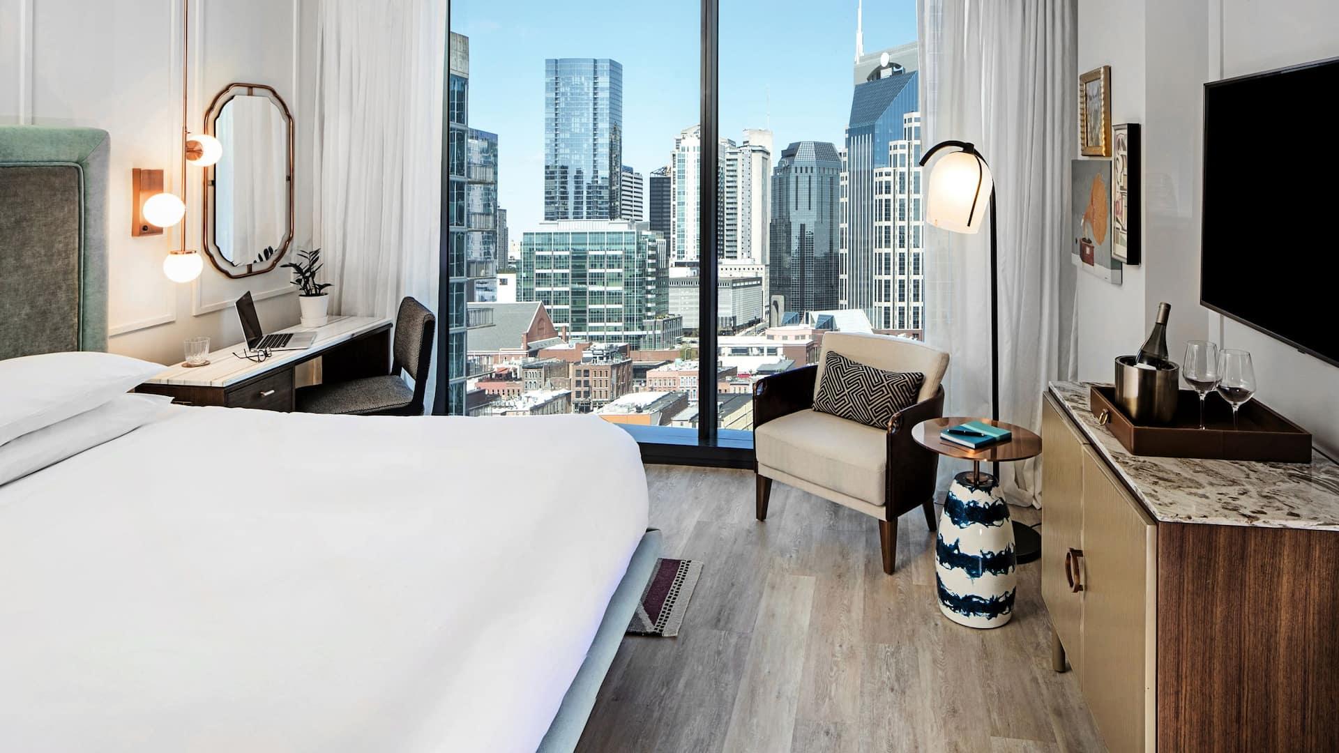 Luxury Nashville hotel suite near Music City Center