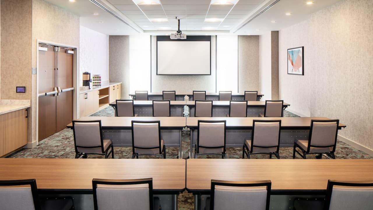 Classroom setup in meeting space at Hyatt House North Scottsdale