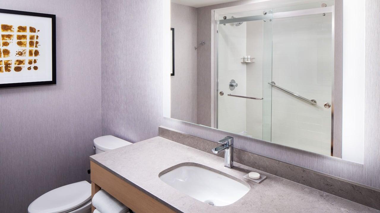 Guest bathroom at Hyatt House North Scottsdale