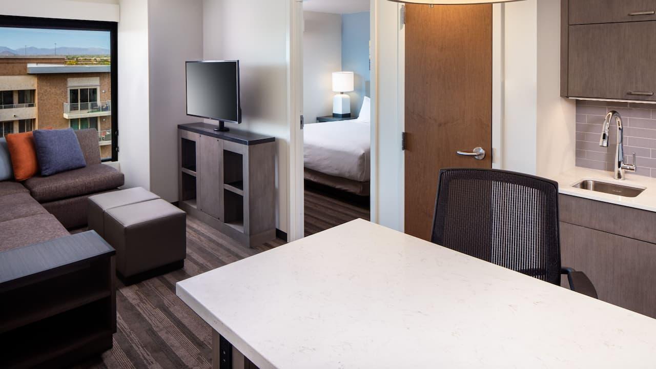 One bedroom kitchen suite at Hyatt House North Scottsdale