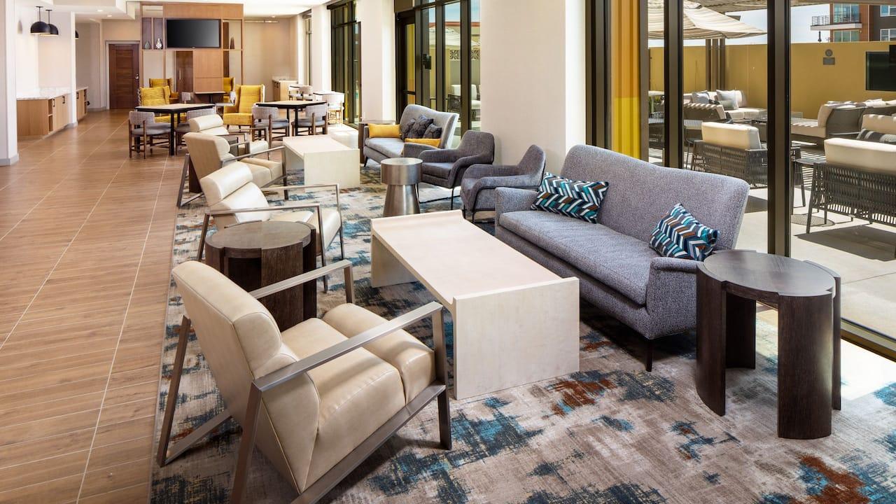 Lobby seating area at Hyatt House North Scottsdale