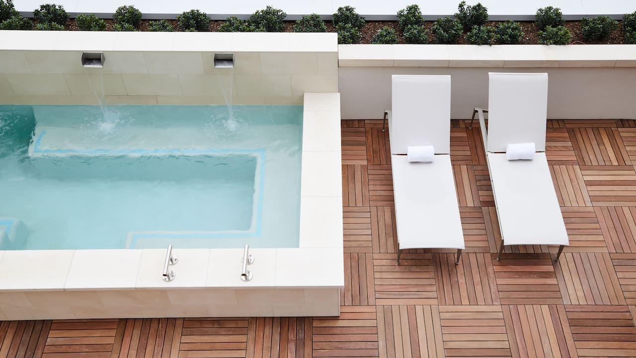 Thompson Hotel Dallas spa pool