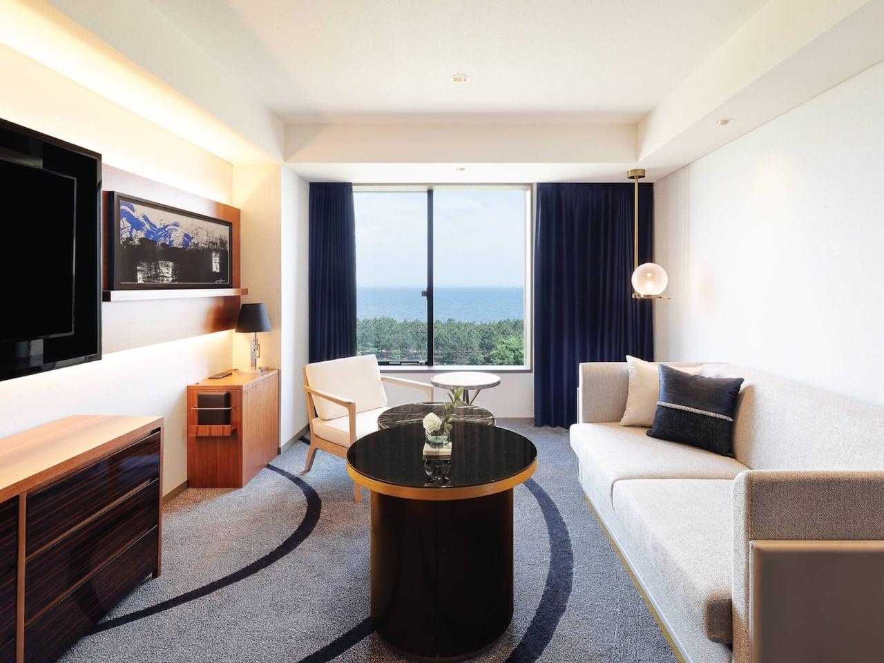 One King Regency Suite Living Room