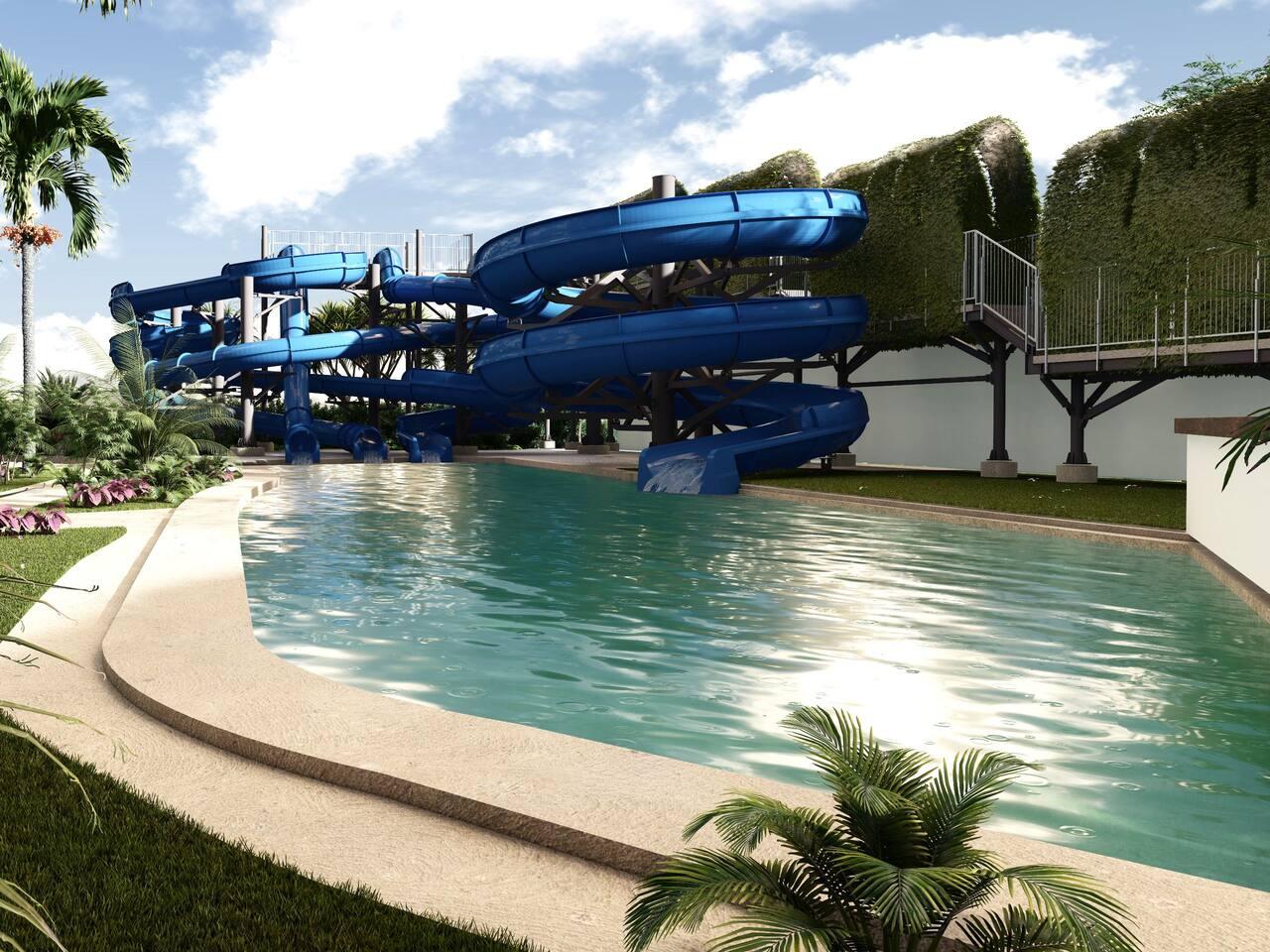 Water Park Slide View