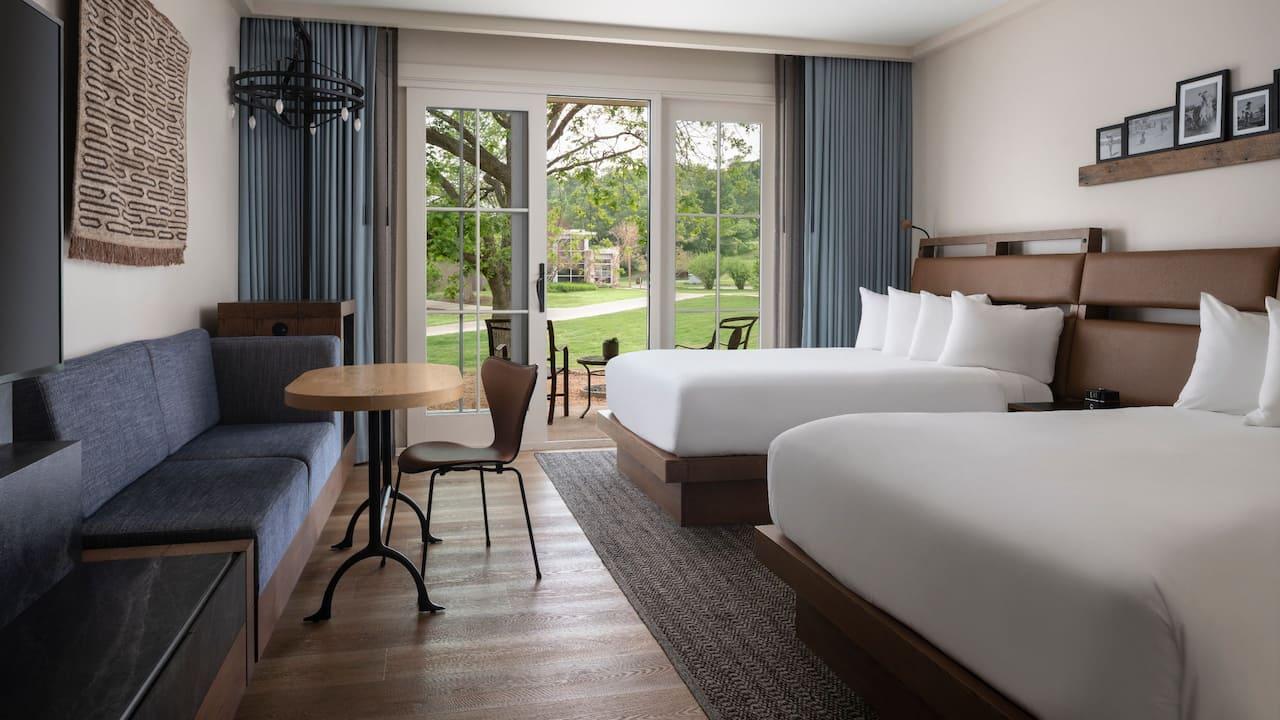 Two Queen Patio Bedroom