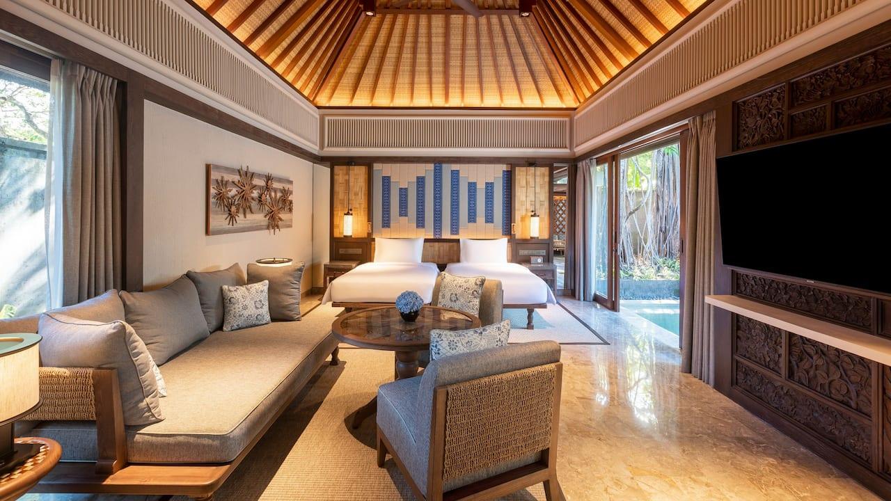 Twin Bed Garden Villa, Andaz Bali, Sanur