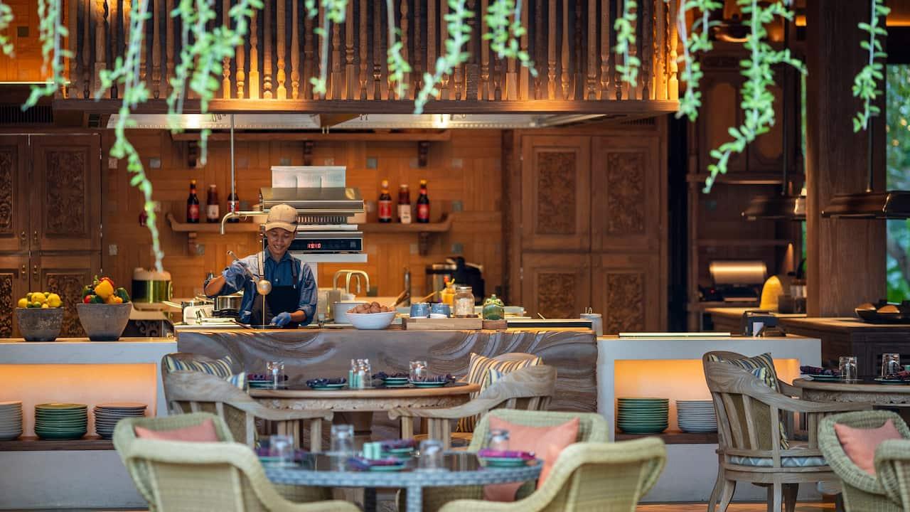 Food, Drink and Venue of Hyatt Restaurants - Wok Wok Restaurant by Andaz Bali