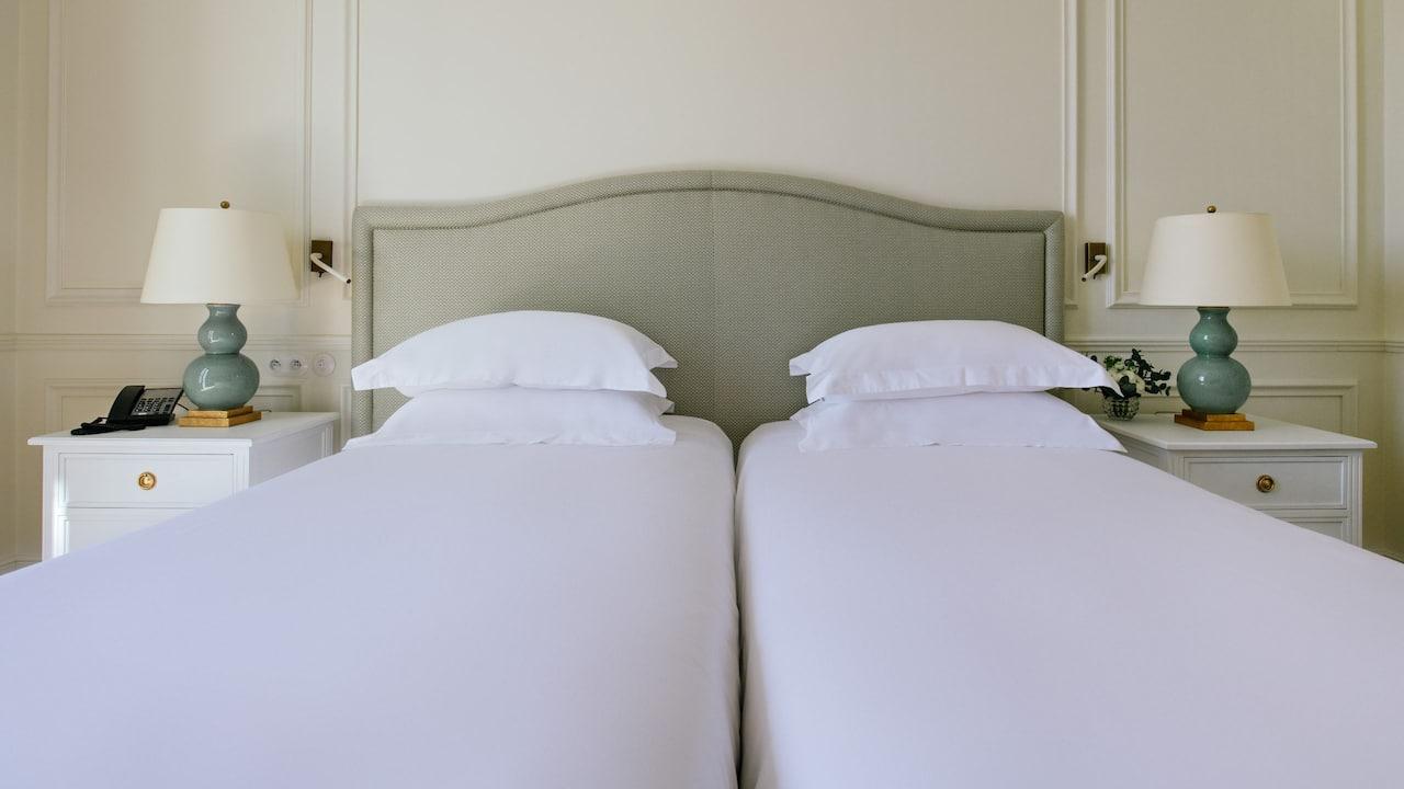 Twin bed at Hotel du Palais in Biarritz Hyatt