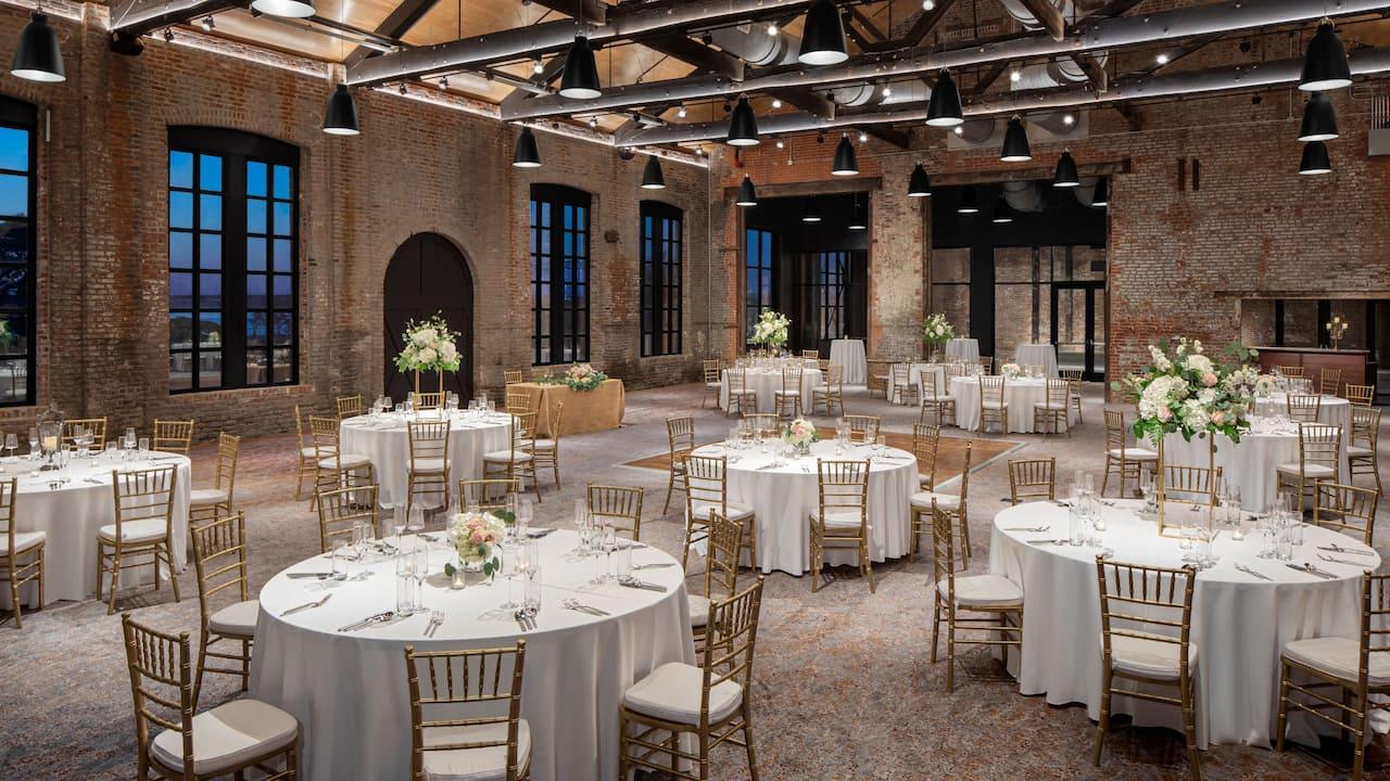 Foundry Wedding Setup
