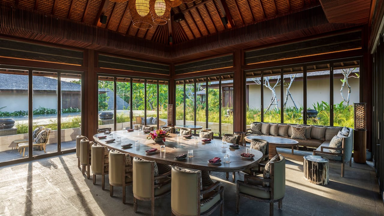 Private Dining Room for special event at Andaz Bali