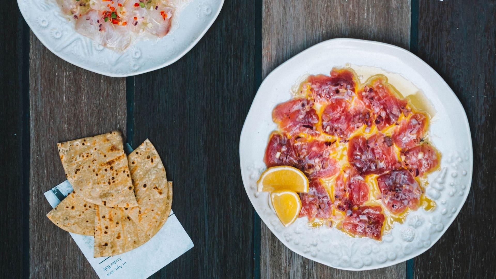 Seafood menu restaurant Andaz Bali