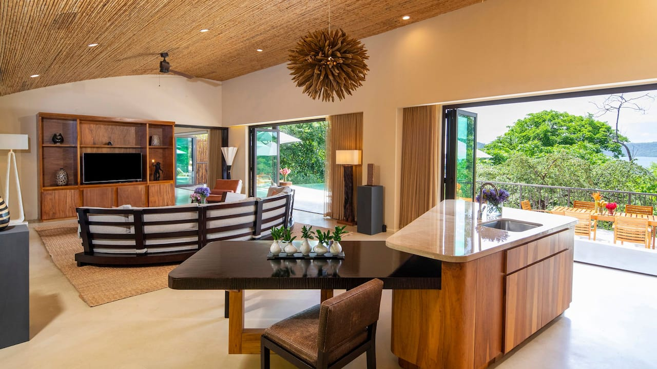 Presidential Suite Living Room Kitchen