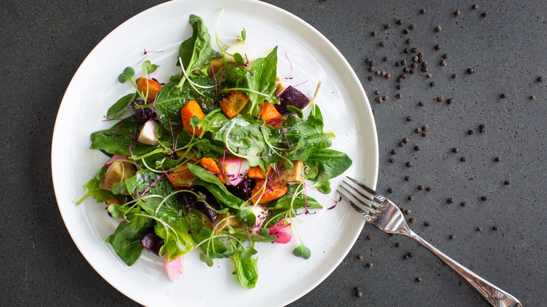 Salad With Utensils