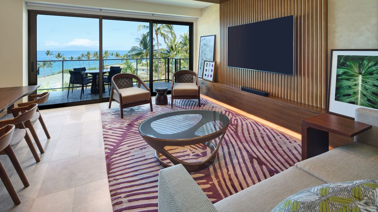 Ilikai Ocean View Living Room