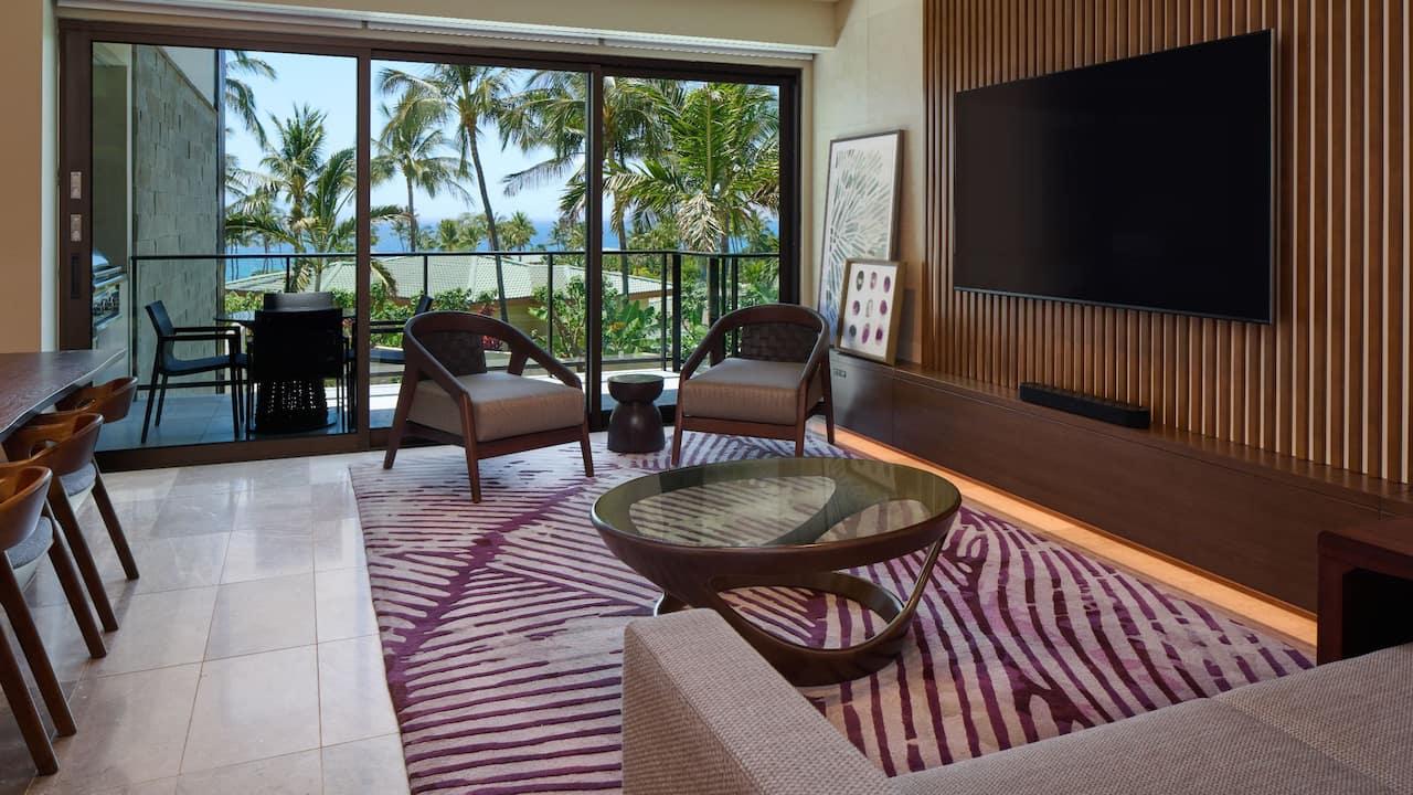 Ilikai Partial Ocean Living Room