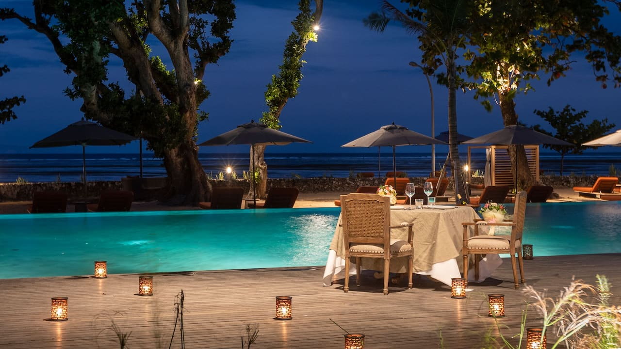 Romantic Dinner at Andaz Bali