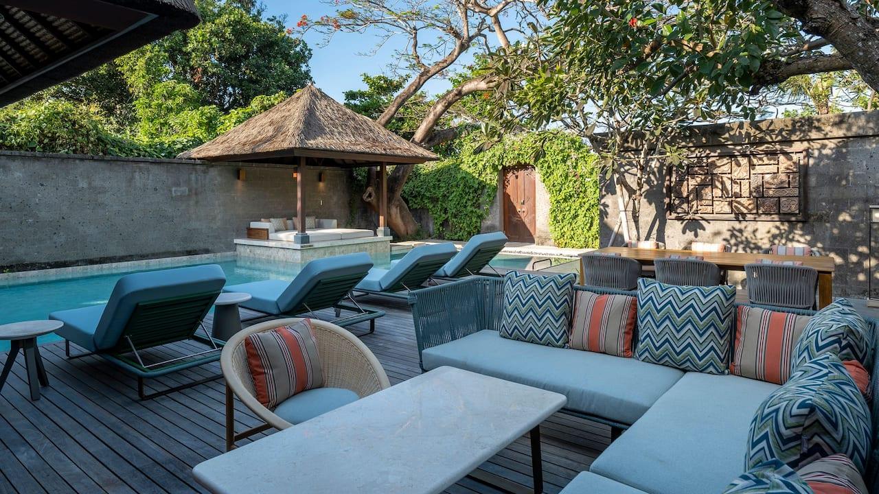 Beach Villa Patio at Andaz Bali Sanur