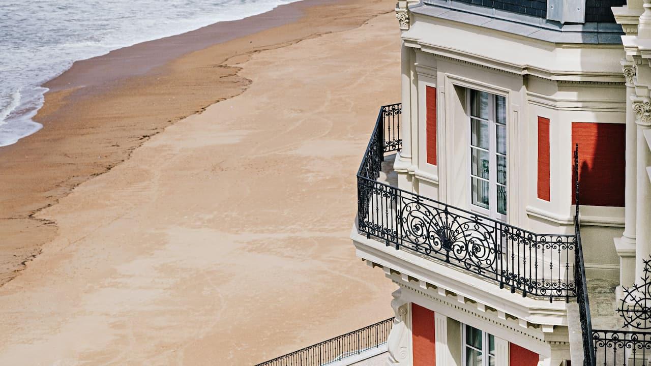 Section of Outdoor Facade at Hotel du Palais By Hyatt