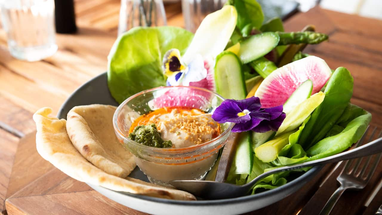 Hummus with vegetables