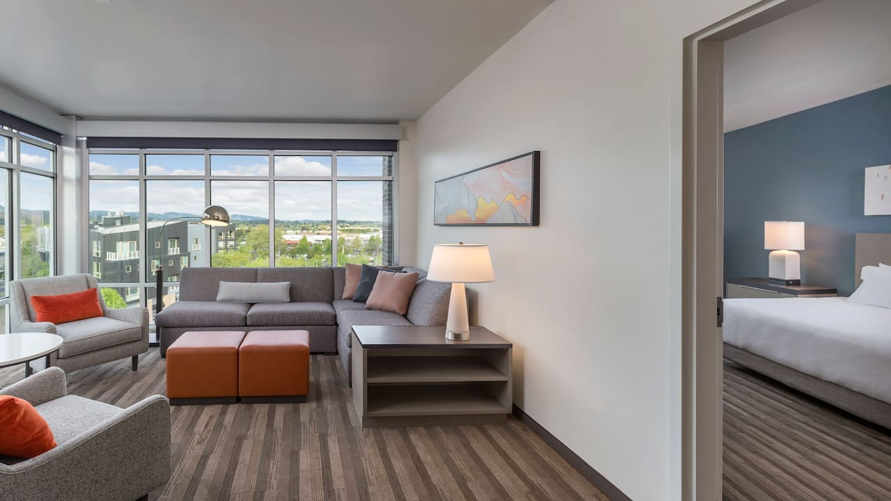 Accessible One Bedroom Suite Living