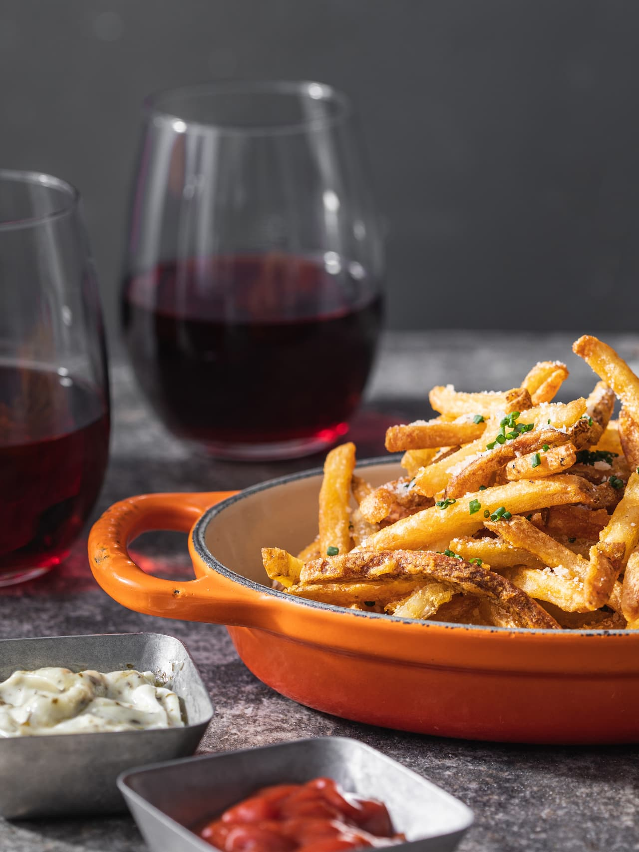 Hyatt Place Fries and Two Red Wines