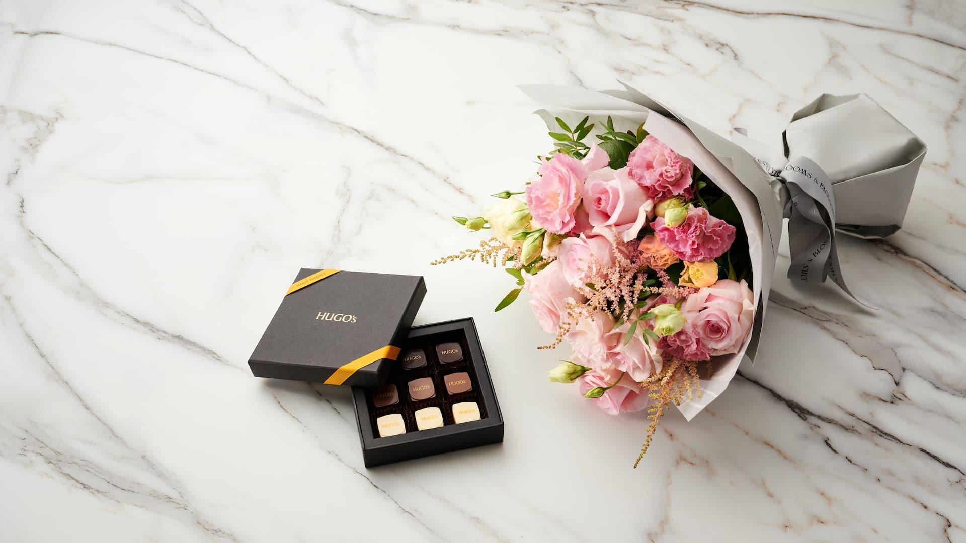 Hugo's Pralines and Bouquet