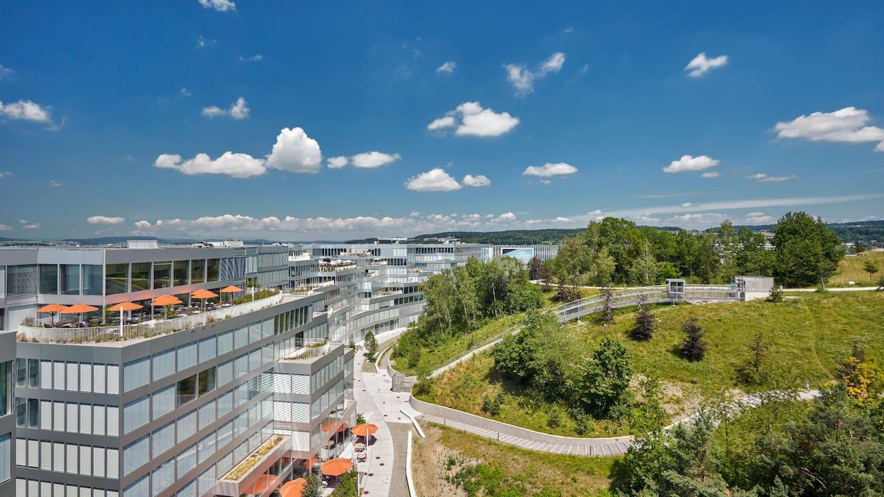 Hyatt Regency Zurich Airport The Circle Arial View