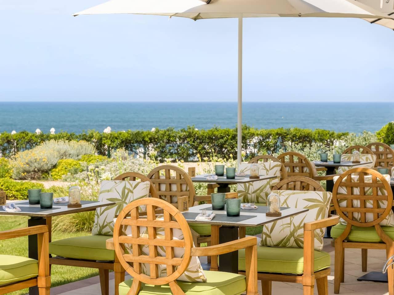 Terrace at Hotel du Palais in Biarritz Sea View