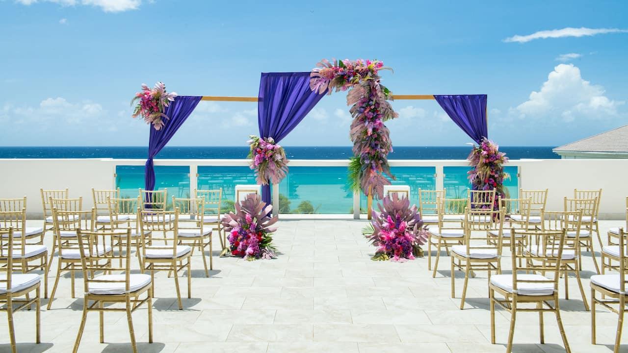 Sky Deck Wedding Set Up
