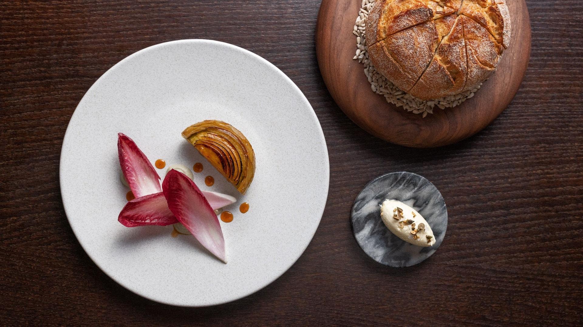 Globe Artichoke and Bread at The Montagu Kitchen